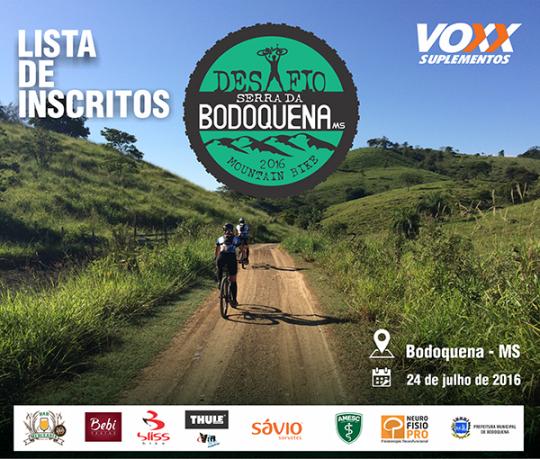 Divulgada lista oficial de inscritos por faixa etária para o Desafio Serra da Bodoquena de Mountain Bike